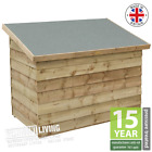 NEW WOODEN SMALL SHED GARDEN CHEST MINI STORE STORAGE UNIT SHIPLAP T&G OVERLAP