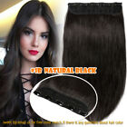 Clip In Half Full Head 100% Remy Thick Human Hair Extensions One Piece 5Clips UK
