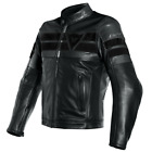 Dainese 8-Track Leather Jacket Black Motorcycle Jacket NEW