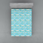 Shark Fitted Sheet Cover with All-Round Elastic Pocket in 4 Sizes