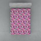 Watercolor Flowers Fitted Sheet Cover with All-Round Elastic Pocket in 4 Sizes