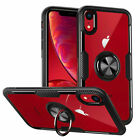 Metal Magnetic Case Cover With Car Ring Holder Buckle For iPhone XS Max 8 7 Plus
