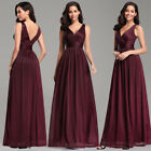 US Ever-Pretty Elegant V-Neck Long Prom Dresses A-Line Formal Evening Ball Gown