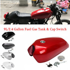 1pc 9L/2.4 Gallon Vintage Motorcycle Cafe Racer Seat Fuel Gas Tank  w/Cap Switch $85.86 USD on eBay