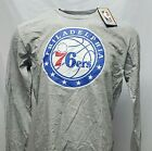 *READ* Philadelphia 76ers NBA Long Sleeve T-Shirt Heather Grey, nwot, *FLAWED*