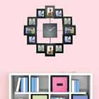 14'' FAMILY LOVE PICTURE WALL CLOCK MULTI PHOTO APERTURE FRAME HOME OFFICE DECOR