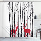 Polyester Print Fabric Shower Curtain for Bathroom 70 Inches Long