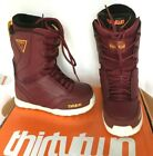 $240 ThirtyTwo W's Lashed Lace Up Snowboard Boots Burgundy NIB 32 Size 7