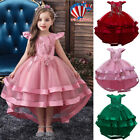 Girls Bridesmaid Dress Baby Kids Party Wedding Dresses Princess Christmas Lace