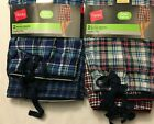 NWT Hanes Men's Woven Cotton Blend Sleepwear SHORT Lounge 2 SHORTS Plaid Check