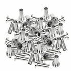 """50-200PCS T316 Stainless Steel Protector Sleeve For 1/8"""" 3/16"""" Cable Railing HTT"""