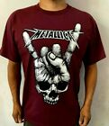 METALLICA VINTAGE PUNK ROCK  BAND BURGUNDY T SHIRT image