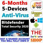 Bitdefender Total Security 2020 +VPN | 6-Months,5-devices,PC,Android license KEY