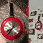 Wall Clock Frying Pan Home Kitchens Decoration Metal Artistic Side Hang 8 inch