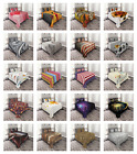 Bed Coverlet Set Quilted Pillow Shams with Decorative by Ambesonne Bedspread image