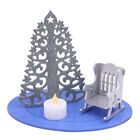 Glittered+Christmas+in+Heaven+Rocking+Chair+Set+with+LED+Tea+Light+-+Blue