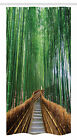 Jungle Stall Shower Curtain For Bathroom Decor In 2 Sizes Polyester Fabric