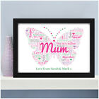 Personalised Mum Mummy Nanny Nan Granny Birthday Butterfly Gifts for Her