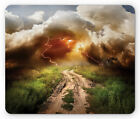 Ambesonne Nature Panorama Mousepad Rectangle Non-Slip Rubber