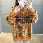Women's fashion thick floral design Winter loose sweater KREDM35098#