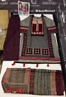 .Winter Khaddar  Embroidered stitched pakistani indian suit wool shawl