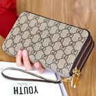 Women Leather Wallet Clutch Phone Card Holder Zip Purse Large Capacity Handbag