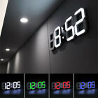 3D Display Digital LED Digit Desk Wall Clock Alarm Snooze USB 12/24h Home Decor