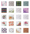 Ambesonne Flower Spring Decorative Satin Napkins Set of 4 Party Dinner Fabric