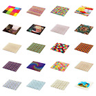 Ambesonne Colorful Design Decorative Tempered Glass Cutting and Serving Board