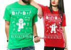 Couples Shirts Matching Shirts Ugly Christmas Sweater Gingerbread Man Funny Tee