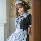 Women French Maid Fancy Dress Costume Outfit Waitress Uniform Plus Size Cosplay