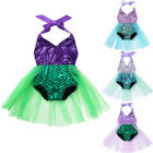 Infant Baby Girl Mermaid Romper Tulle Skirt Outfit Birthday Party Clothes Outfit