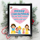 Personalised+Disney+Princess+Gifts+Sister+Sis+Her+Aunty+Framed++Card+Christmas