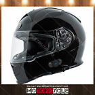 T14B Full Face Motorcycle Helmet Bluetooth Dual Visor Racing Sport Gloss Black M