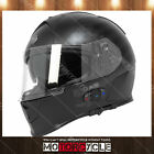 T14B Full Face Motorcycle Helmet Bluetooth Racing Flat Black American Flag XL