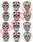 Mexican Sugar Skull Day of the Dead Edible Cupcake Toppers