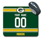 NFL Green Bay Packers Personalized Name/Number Mouse Pad 152318 $14.99 USD on eBay