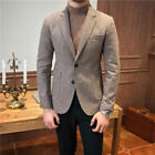 Men Houndstooth Dogstooth Suit Checkered Dinner Wedding Prom Tuxedos Party Suit
