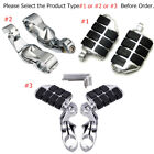 "1.25"" Highway Foot Pegs Footrest Kits / Bracket Clamps Chrome for Indian Harley image"
