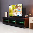 57'' TV Unit Cabinet Stand + LED Lights Shelves Console Table Home DIY Furniture