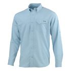 50% Off HUK Tide Point Long Sleeve Fishing Shirt - Ice Blue - Free Shipping