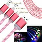 Luminous Color Light-Up USB Data Sync Charger Cable Charging Cord Line Portable