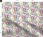 Swear Words Bad Rainbow Fabric Printed by Spoonflower BTY