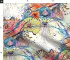 Watercolor Abstract Modern Nautical Science Fabric Printed by Spoonflower BTY
