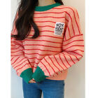 Epicsnob Womens Round Neck Casual Knit Long Sleeve T-Shirt Sweater Pullover Tops