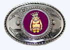 ROJ Mirth  King Billiken Lucky Charm Masonic Fraternal Shriner Belt Buckle USA