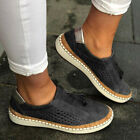 Womens Ladies Slip On Breathable Shoes Pumps Casual Comfy Loafers Trainers Size