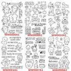 9 Types Cartoon Prints Clear Transparent Silicone Stamp/Seal scrapbooking Decor