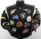 NFL AFC NFC TEAM COLLAGE NATIONAL FOOTBALL LEAGUE KIDS SIZE (4-6) JACKET NWT $69.95 USD on eBay
