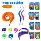 1PC Magic Worm Twisty Toys Wiggly Fuzzy Carnival Party Favors Worm on a String